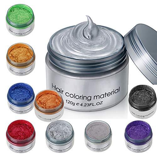 Ardorlove 9 Colors Hair Coloring Wax, Temporary Hair Color Wax, Unisex Multi-Color Disposable Instant Modeling Fashion DIY Hair Color Wax Mud Hair Dye Cream (9 colors)