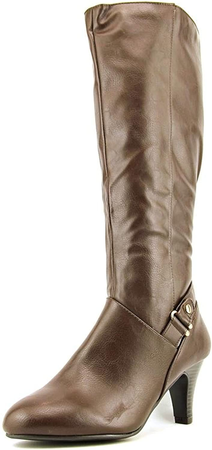 KS35 Harloww Fashion Knee-High Boots, Brown