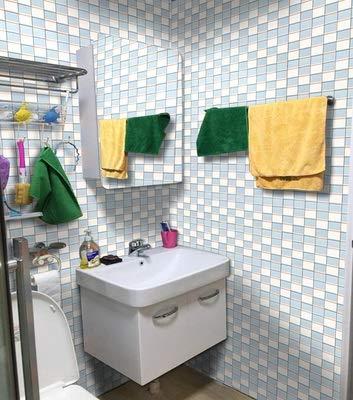 Yubingqin 5m * 60 cm Espesor del baño Fondo de Pantalla Autoadhesivo Impermeable Baño Azulejo Pegatina Pegatina Mosaico Decorativo PVC Pegatina de Pared (Color : 3, Dimensions : 5mx60cm Wide)