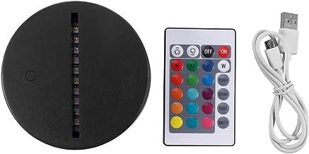 Sunasq 3D-led-nachtlampje, ABS-kunststof, afstandsbediening met touch-sensor, meerkleurig, 80 stuks