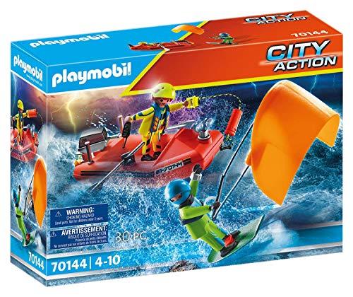 PLAYMOBIL City Action 70144 Seenot: Kitesurfer-Rettung mit Boot, Ab 4 Jahren