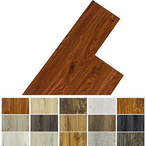 STILISTA Vinyl Laminat Dielen, 15 Dekors wählbar, 5,07m² oder 20m², rutschfest, wasserfest, schwer entflammbar - 5,07m² Ulme natur