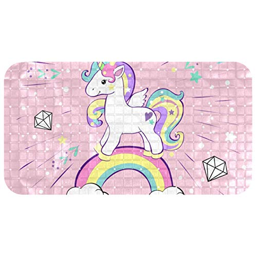 Shower Bath Mat 37.5x68.5 cm Unicorn Pop Art Non-Slip and Latex Free for Tub