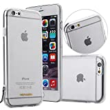 Clear TPU Case with Leather Carrying Strap for Iphone 6 Plus / 6s Plus (Black Strap)