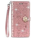 Blllue Étui portefeuille compatible avec Huawei Honor 20, Honor 20 Coque Bling Glitter Diamant...