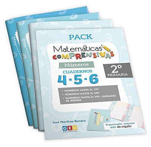 Pack Matemáticas Comprensivas 2º PRIMARIA: Cuadernos Repaso NÚMEROS | EDITORIAL GEU (Niños de 7 a 8 años)