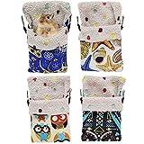Oncpcare Lot de 2 sacs de couchage pour hamster, hamac, hamac, petit animal domestique, accessoires de cage en peluche à suspendre pour rat, hamster, écureuil