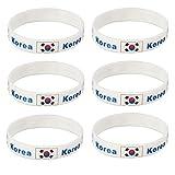 LUOEM Silikon Armbänder WM Flagge Fahne Korea Land Armband Fanartikel Fussball 2018 WM 6 Stücke