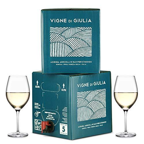 Bag in Box vino Pinot Grigio 5L + Bag in Box vino Friulano 5L - Vigne di Giulia