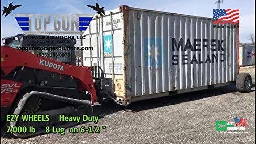 EZY Wheels Heavy Duty 8-LUG Shipping Container Wheels Top Gun Storage Solutions