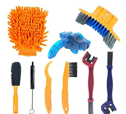 BSDASH Bicycle Chain Cleaner Scrubber Brushes Mountain Wash Tool Set Cycling Cleaning Kit Bicycle Tools Accessories Green
