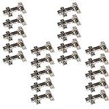 20 x SO-TECH® Topfband Topfbänder T45 Eckanschlag mit Dämpfer + Kreuzplatte Scharnier Scharniere Topfscharniere (Einzeln und als 6er, 10er, 20er oder 30er Set erhältlich!)