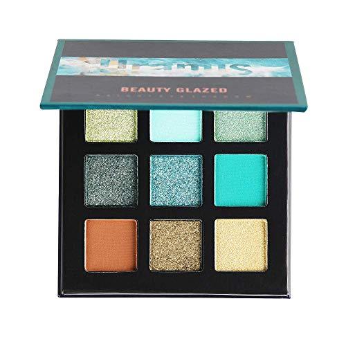 Beauty Glazed Palette di ombretti 9 colori Cosmetici Trucco Impermeabile Naturale Glitter opaco Palette di ombretti luccicanti # 4