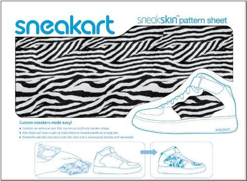 Sneakart-oracal 621 film adhésif pour chaussures zebra skin