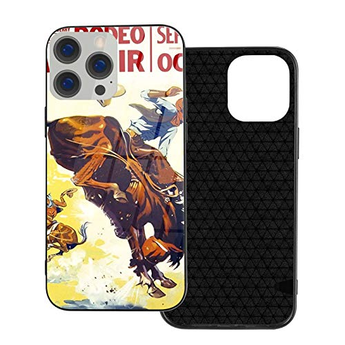 Vintage 1930s Rodeo Poster Restored Glass Phone Case Cover for iPhone 12 Pro MAX 12 Mini 11 Pro MAX XR X/XS SE 2020/7/8 6/6s Plus Samsung Series