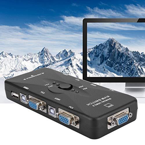 ZFFSC Tastatur Schaltkasten Stable Monitoradapter Schwarz Zuverlässiger praktischer USB-Hub-Monitor-Hub für PC für Computer Tastatur