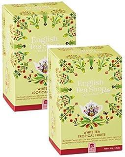 DEU English Tea Shop Weißer Tee Mit Tropischen Früchten - 2 x 20 Teebeutel 80 Gramm