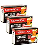 National Cup, Tagless Orange Pekoe and Pekoe Cut Black Tea Blend, Tea Bags, 100 Ct, Pack of 3