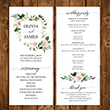 Wedding Program Elegant Blush Floral Collection with ANY Wording Printed
