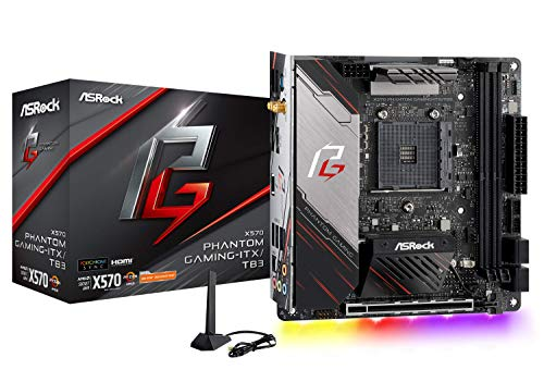 ASRock X570 Phantom Gaming-ITX/TB3 Mini ITX Thunderbolt 3 AMD Motherboard Model X570 Phantom GAM ITX
