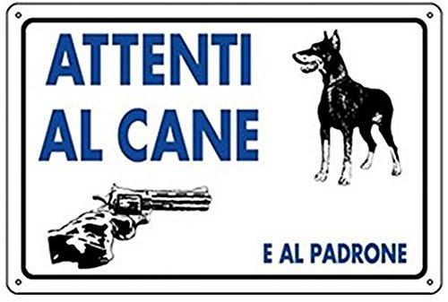 KIT 3pz CARTELLO ATTENTI AL CANE E AL PADRONE 20X30 ATTENZIONE TARGA SEGNALE SEGNALETICA 171098