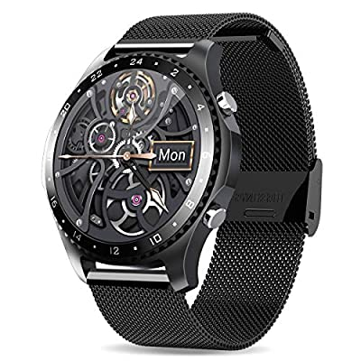 Smart Watch with Call,Health and Fitness Smartwatch with Heart Rate Blood Pressure SpO2 Monitor Sleep Tracker,App Message Reminder,Music Control,Waterproof Smart Watch for Android iOS Phone (Black)