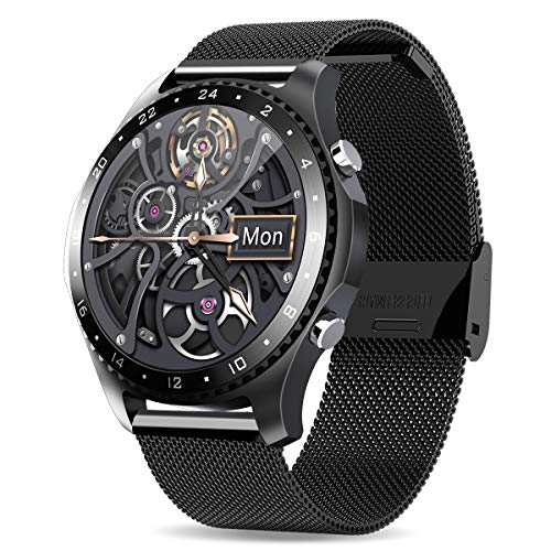 Smart Watch with Call,Health and Fitness Smartwatch with Heart Rate Blood Pressure SpO2 Monitor Sleep Tracker,App Message Reminder,Music...