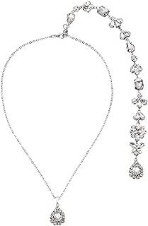 Crystal Rhinestone Backdrop Necklace Body Chain Rhinestone Wedding Jewelry Backless Dress Accessories (Style 5)