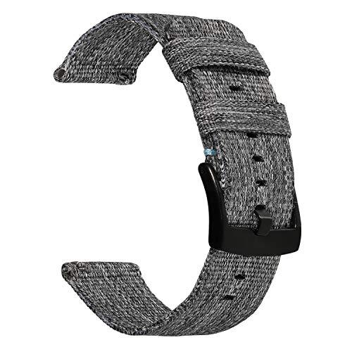 TRUMiRR Armband kompatibel mit Galaxy Watch3 45mmGear S3/ Galaxy Watch 46mm Armband, 22mm Woven Nylon Armband Edelstahl Verschluss Uhrenarmband Sport Uhrenband für Samsung Gear S3 Classic/Frontier