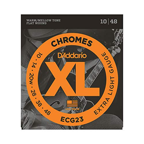 D Addario ECG23 Set Corde Elettrica Chromes Flat Wound