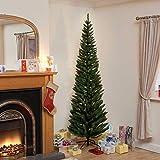 200CM Ambasciatore Albero di Natale floccato Pencil Pine Slim Albero di 200...