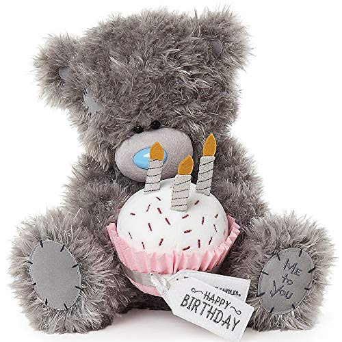 Me To You APD01002 Tatty Teddybär Happy Birthday Cupcake, grau