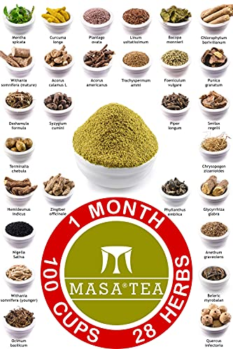 Masa Tea 1 Month Diet Pack - World's Best Fast Slimming Weight Loss, Immunity Booster, Anti Aging, Hair Growth, Muscle Repair, Acne Fat Detox Tasty Organic Green Herbal Health Drink for Women & Men