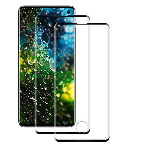 PUUDUU [2 Pack] Cristal Templado para Samsung Galaxy S10, Dureza 9H, Anti-Rasguños, Sin Burbujas, Vidrio Templado Protector de Pantalla para Samsung Galaxy S10