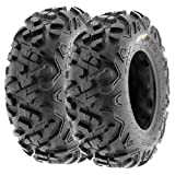 Set of 2 SunF Power.II 19x7-8 ATV UTV Off-Road Tires,...