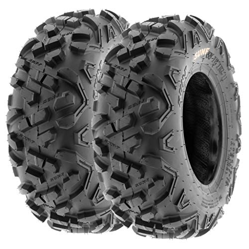 Set of 2 SunF Power.II 19x7-8 ATV UTV Off-Road Tires, All-Terrain, 6 PR, Tubeless A051