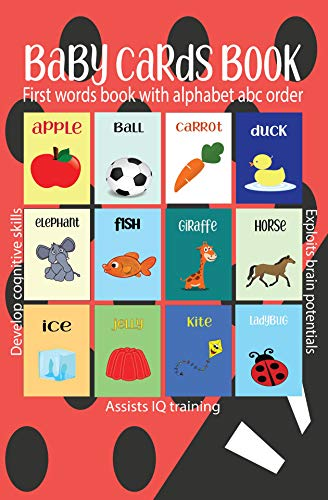 Baby Cards Book: First words with alphabet abc order (English Edition)