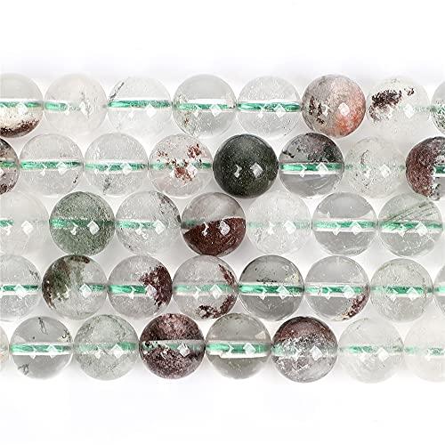Piedra natural de clorito-cristales redondos sueltos para la fabricación de joyas pulseras DIY costura cuentas Strand 6/8/10 Mm H7370 10mm aproximadamente 38pcs