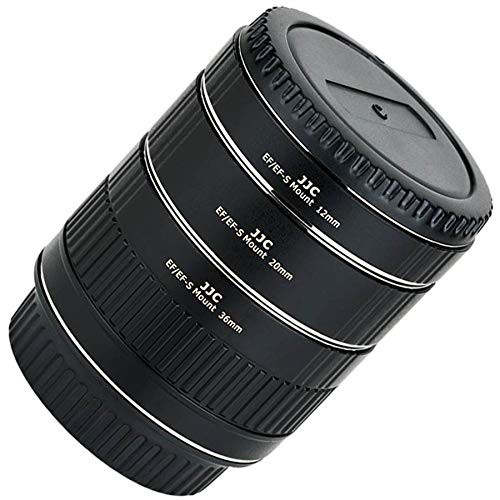 JJC AET-CS(II) - Anillo intermedio de Enfoque automático para cámaras Canon EOS EF/EF-S (12-20 - 36 mm)