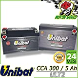 ULT2 BATTERIA UNIBAT AL LITIO CCA 300 GARANZIA 2 ANNI YT7B-BS YT9B-BS YT12B-BS YT14B-BS YTZ10S-BS YTZ12S-BS YTZ14S-BS YB16AL-A2 YTX9-BS YTX12-BS YT12A-BS YT12B-BS