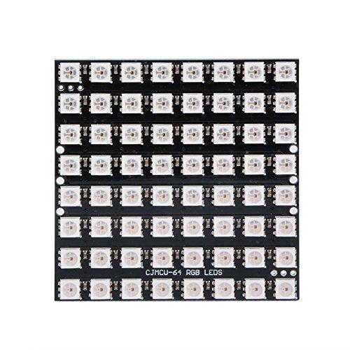 Sun3drucker 1stk CJMCU-8 * 8 Modul 64 LED Matrix Panel Matrix WS2812 5050 RGB mit integrierten Treibern für Arduino und Raspberry Pi