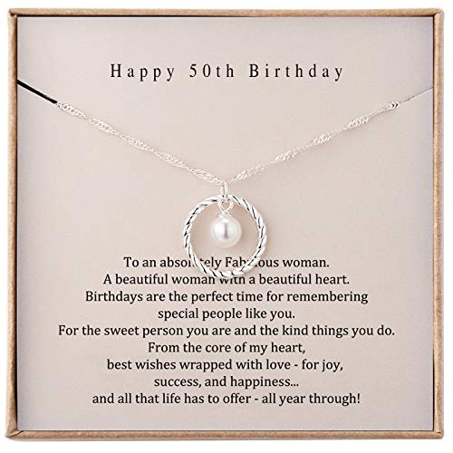 50th Birthday Gifts for Women 1971 Sterling Silver Necklace 50th Birthday Present for Women Turning...