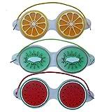 MoonyLI 3Pcs Gel Eye Mask Cooling Eye Mask Reusable Gel Eye Mask Ice Eye Mask Eye Spa Pad Fruit Pattern Gel Fruit Ice Pack Eye Mask