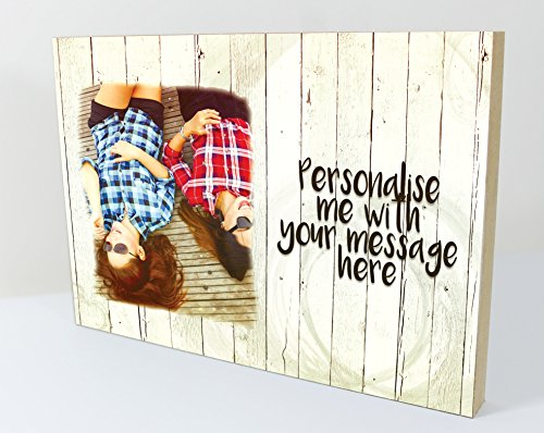 CSPRINTS Personalised plaque with photo and Message - best friends...