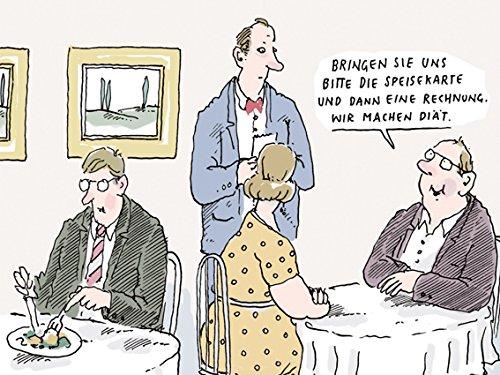 Postkarte A6 • 8186 ''Wir machen Diät'' von Inkognito • Künstler: Til Mette • Satire • Cartoons
