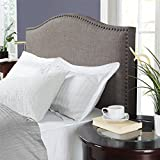 Dorel Living Winsted Linen King Headboard with Nailheads, Gray...