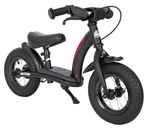 BIKESTAR Kinder Laufrad Lauflernrad Kinderrad für Jungen und Mädchen ab 2 - 3 Jahre | 10 Zoll Classic Kinderlaufrad | Schwarz (matt) | Risikofrei Testen