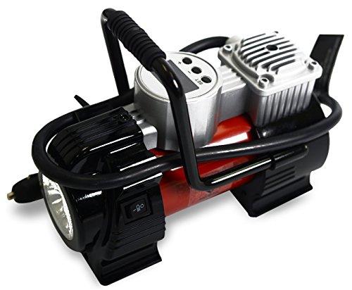 Noone 12 V DC compressore d' aria portatile, Digital Gonfiatore con luce LED da 120 psi 30L/min bici per auto Air Matresses.