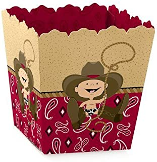 Little Cowboy - Party Mini Favor Boxes - Western Baby Shower or Birthday Party Treat Candy Boxes - Set of 12