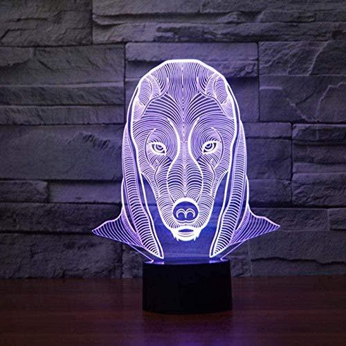 GEZHF Luz nocturna 3D de Anime, 7 colores, luz nocturna 3D, USB, ideal para el dormitorio de los niños, lámpara de pared de acrílico, atmósfera decorativa, el regalo de cumpleaños perfecto para niños